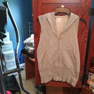 Urban outfitters gray short sleeve hoodie size M